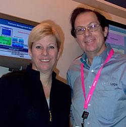 Glenda Dorchak, CEO de VirtualLogix avec Didier Irlande, Directeur Marketing.